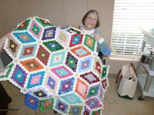 Linda's hand pieced hexagons